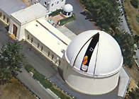 Aerial view of Lick Observatory Great Refractor Dome