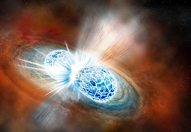 Neutron stars collide