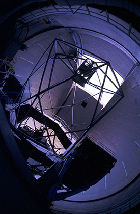 Inside the Keck I Dome by Laurie Hatch