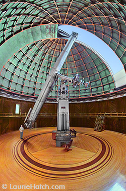 Lick 36-inch Refractor with Person