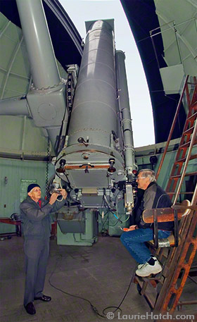 Arnold Klemola & Burt Jones at the Astrograph