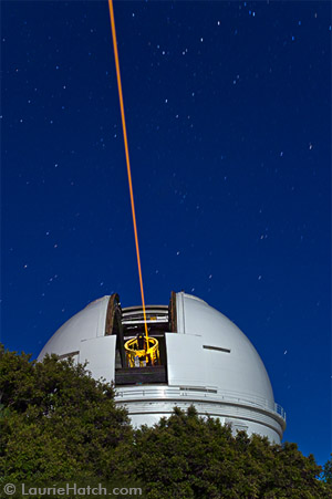 Shane Telescope Laser from Outside