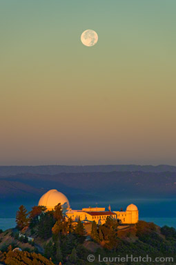 Sunset and Moonrise at Lick Observatory