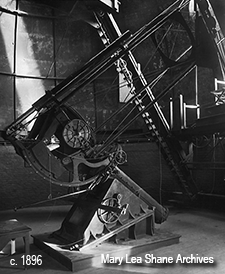 Crossley telescope in late 1800s