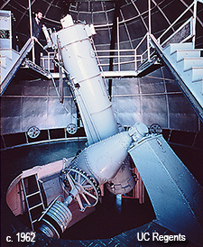 Crossley telescope in 1960s