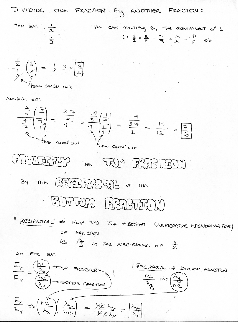 Worksheet Math 6 astronomy 2 winter 2007 overview of the universe dividing one fraction by a second fraction